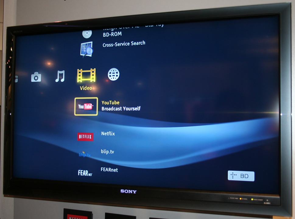 Youtube, Cross Server Search On Sony's Network Blu-ray